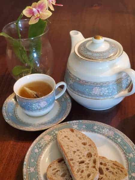 Tea, Bread, Sugar and an Orchid